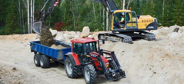 maansiirto kalusto kaivinkone pyöräkuormaajaa